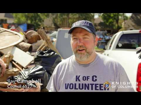 Knights Clear Homes Damaged by #Harvey