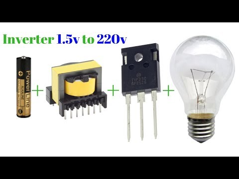 how-to-make-inverter-1.5v-to-220v-simple-circuit-new-technology-exhibition