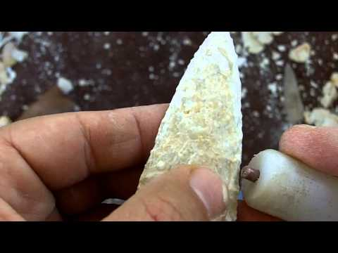 288 - Odinsarcher's Rock - Dovetail Arrowhead from Burlington Chert 3/3 - Bevelling
