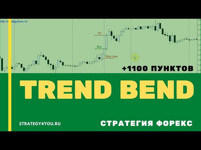 Стратегия форекс «Trend Bend»: +1100 пунктов за 11 месяцев
