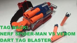 TAG BACK! - The Nerf Dart Tag Spider-man Blaster (Wrist Shotgun!) | Walcom S7