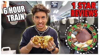 Eating On The WORST Reviewed Train! *6 Hour Train Ride* (1 STAR)