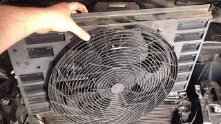 Ремонт дополнительного вентилятора BMW E65 730d