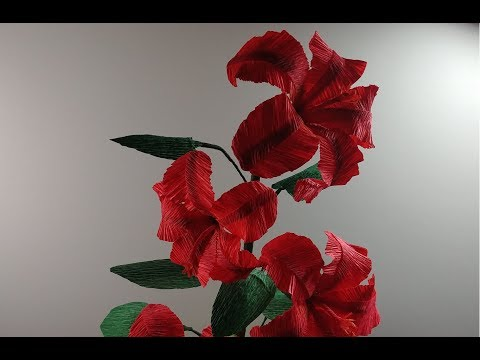 How to make a beautiful and amazing hibiscus with crepe paper