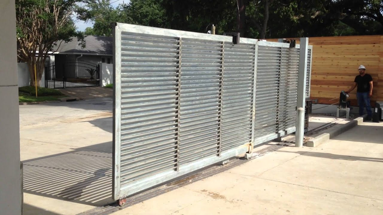 Tandem Louvered Automatic Slide Gate Youtube