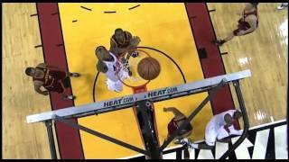 Lebron James Crazy Bank shot vs Cavs 2-7-12