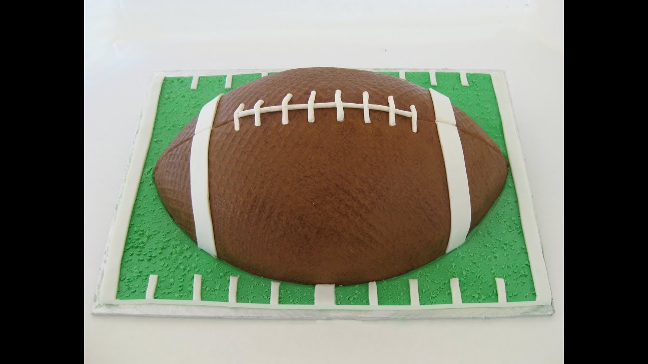 Cake Decorated Like Football Field : Football Cake: Buttercream and Fondant - YouTube