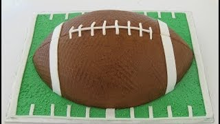 Football Cake: Buttercream and Fondant