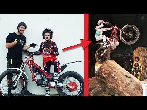14 ans ! IMPRESSIONNANT EN MOTO TRIAL ! (Vélo vs Moto Trial)
