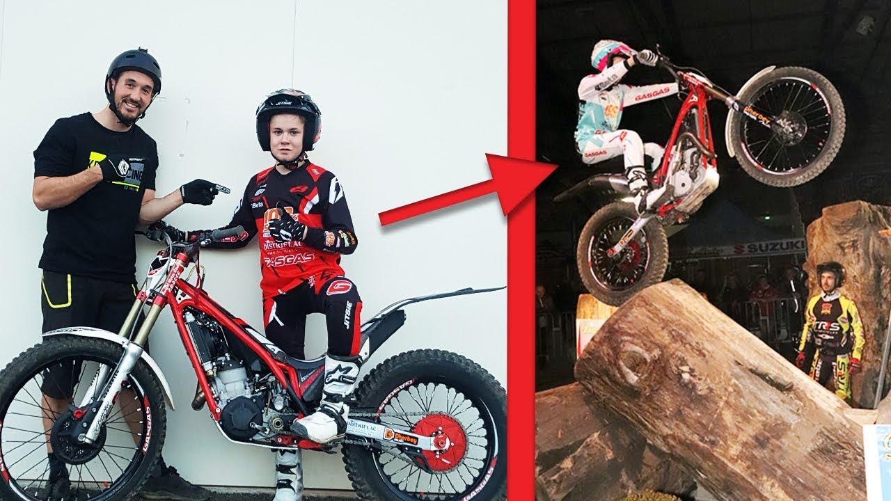 14 ans impressionnant en moto trial v lo vs moto. Black Bedroom Furniture Sets. Home Design Ideas