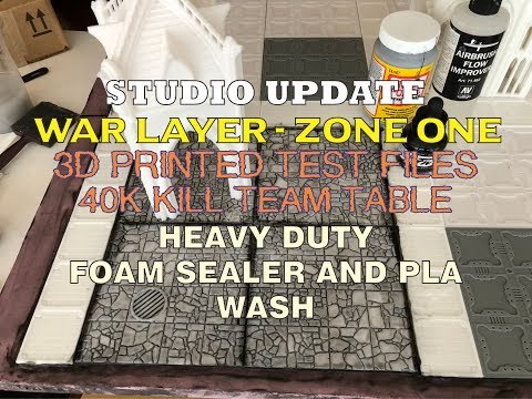 War Layer - Zone One Table & Heavy Duty wash for 3D PLA