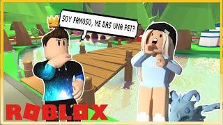 Soy youtuber ¿me das una pet? EXPERIMENTO SOCIAL en ADOPT ME - Roblox YoSoyLoki
