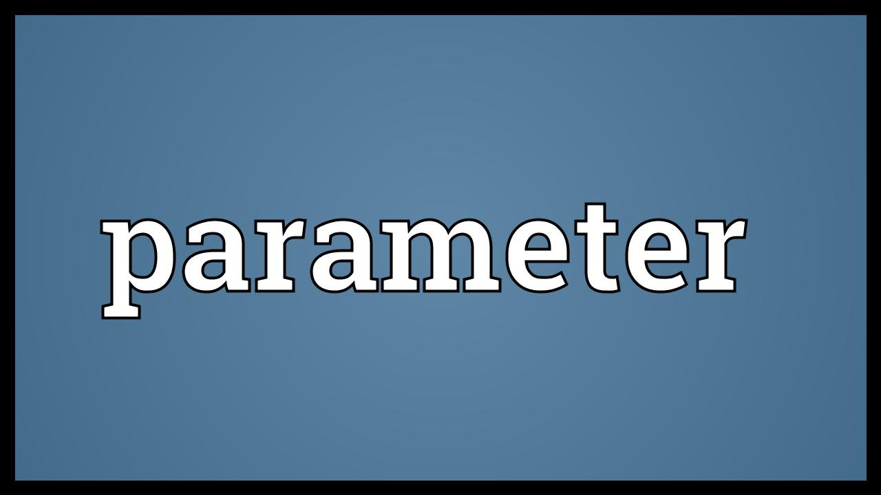 Parameter Meaning - YouTube