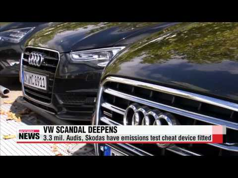 VW scandal: 3 3 mil  Audis, Skodas have emissions test cheat device fitted  아우디 - YouTube