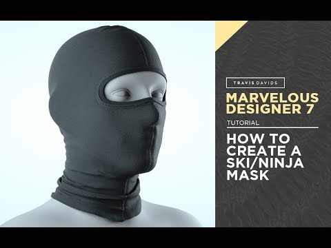 Marvelous Designer 7 - How To Create A Ski Or Ninja Mask