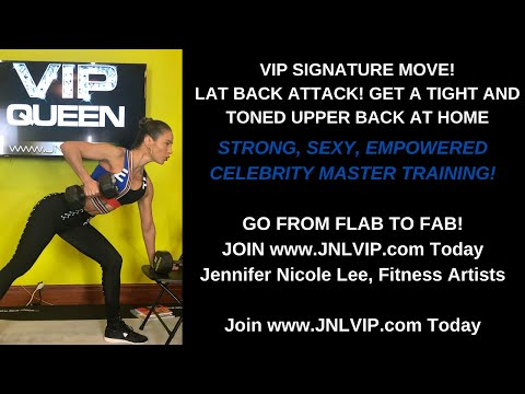 LAT BACK ATTACK by Super Coach Jennifer Nicole Lee-For More VIP Workouts, Join JNLVIP.com