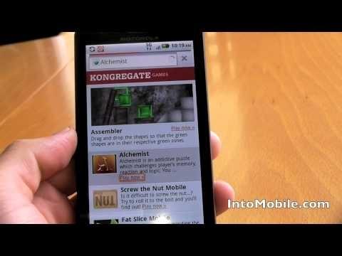 Adobe Flash 10.1 Player demo on Motorola Droid X