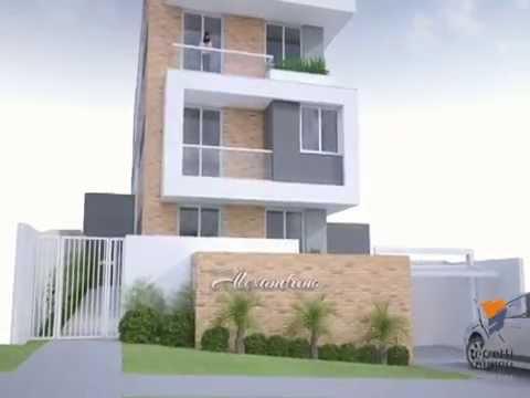 Edificio residencial alexandrino v deo 3d youtube for Fachada apartamentos pequenos