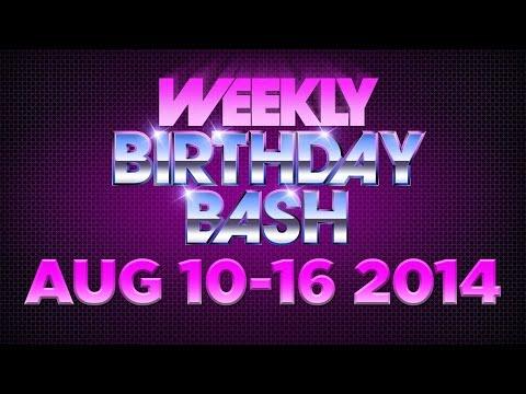 Celebrity Actor Birthdays - August 10 - August 16, 2014 HD