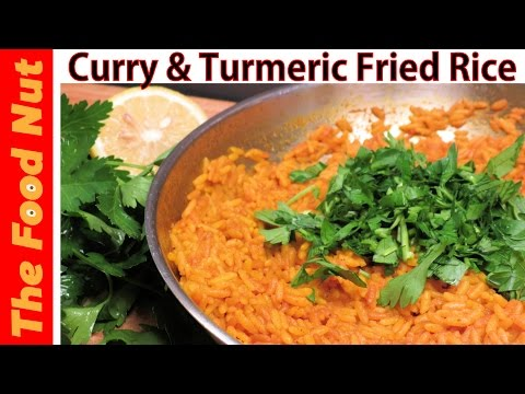 CURRY & TURMERIC FRIED RICE RECIPE – Easy Vegetarian & Vegan Fried Rice Dish Recipe | The Food Nut