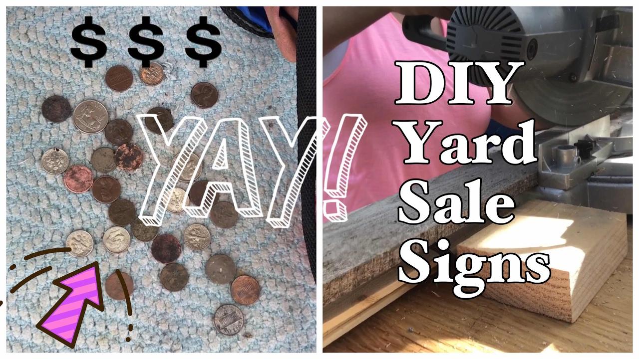 metal detecting and diy yard sale signs