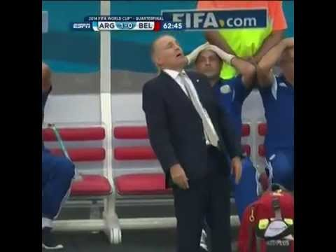 Caida Sabella- Sabella Falling- Fail- FIFA WORLD CUP 2014- Argentina Belgica