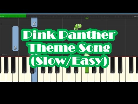 The pink panther theme henry mancini sheet music for piano.
