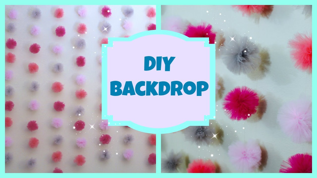 Diy Tulle Backdrop Youtube