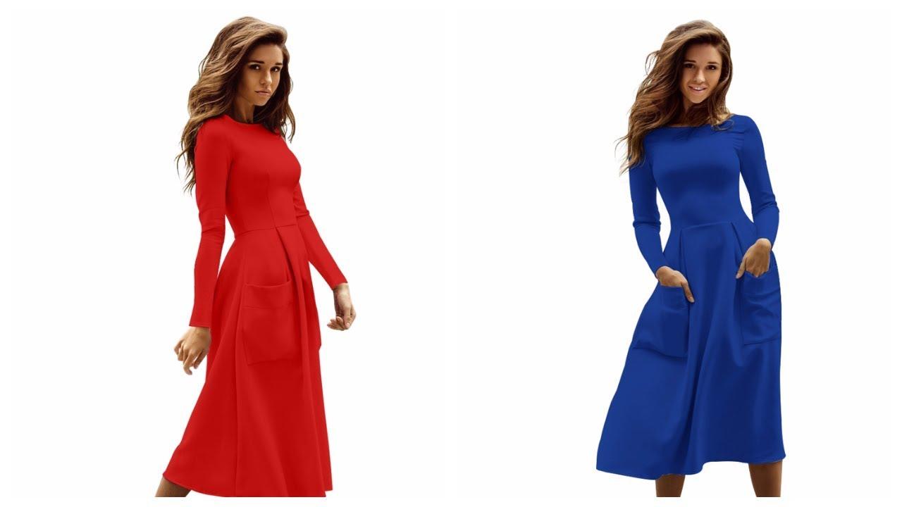 Смотреть Приталенные платья видео