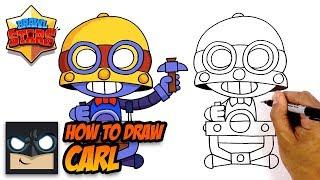 How to Draw Brawl Stars | Carl | Step-by-Step