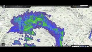 Dešťová fronta 4 10 2015 18 28 02; haarpový kruh radaru Brdy