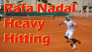 Rafael Nadal Heavy Hitting on Clay - Court Level View