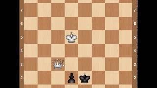 Видеоуроки по шахматам. Уроки эндшпиля. Пешечные окончания. Ферзь против пешек