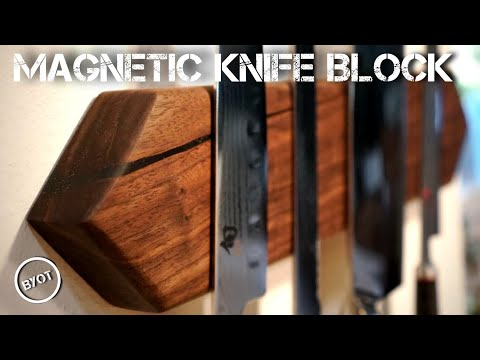 DIY WALL MOUNTED KNIFE BLOCK - MAGNETIC