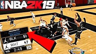 PUTTING THE TEAM ON MY BACK AFTER JUICEMAN GET LAGGED OUT! GAME WINNER! - NBA 2K19 JORDAN REC CENTER