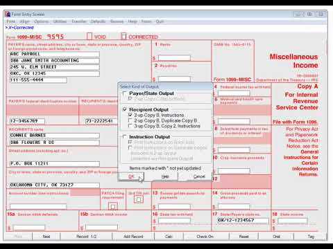 w2 form and 1099  W-10/10 Forms Filer - Printing 10 Forms