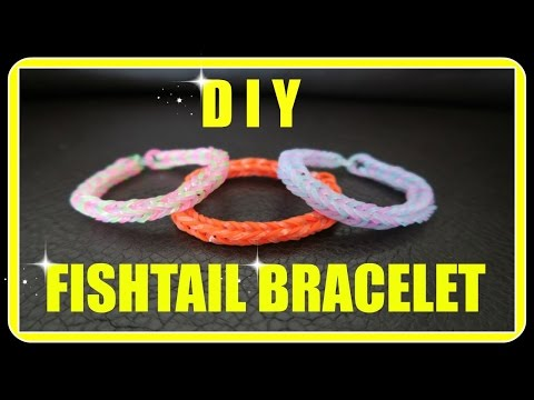 DIY - How To Make A Fishtail Bracelet Using The Crazy Loom (Craz-Loom)