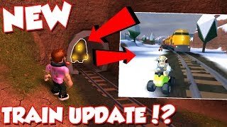 *OMG* NEW Jailbreak TRAIN ROBBERY And TRAIN UPDATE!? (ROBLOX Jailbreak)