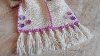 Оформление шарфика для девочки