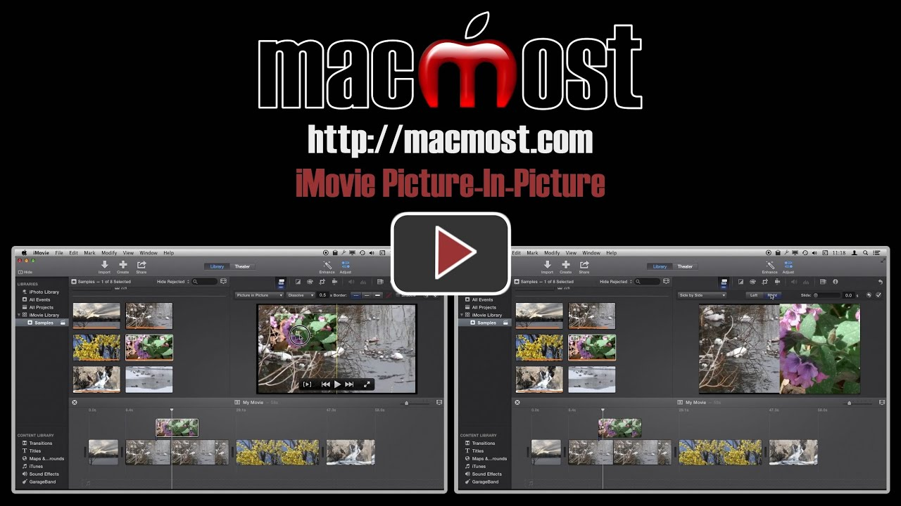 how to add picture in video imovie