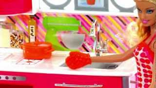 Barbie Dollhouse Toys | Kitchen Set Toy Video Review
