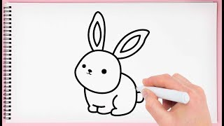 rabbit bunny drawing easy draw step learn simple beginners drawings sketch paintingvalley watercolor explore
