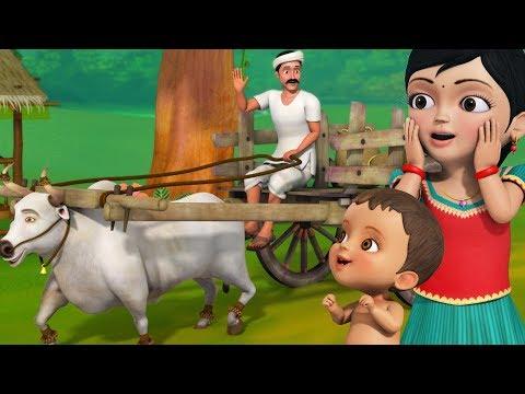 ஜல்ஜல் ஜல்ஜல் வண்டி | Tamil Rhymes for Children | Infobells