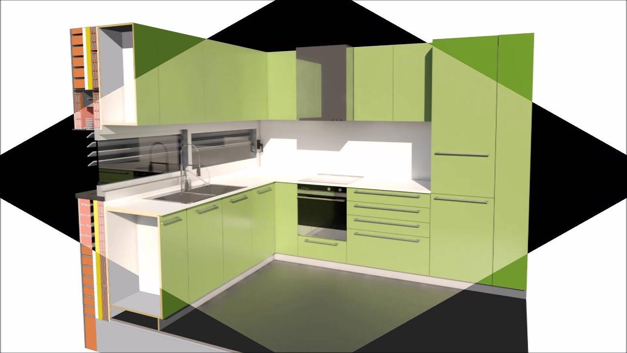 familia revit paramétrica de muebles de cocina - YouTube