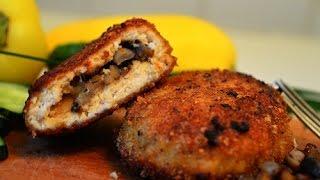 Куриные зразы с грибами|Chicken cutlet with mushrooms