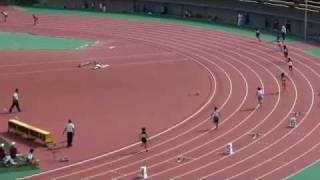 20090927福岡市中学新人陸上 女子共通4×100mリレー(大会新)