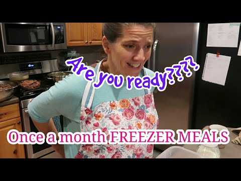 My BIGGEST Large Family Once A Month FREEZER MEALS Video EVER!!!