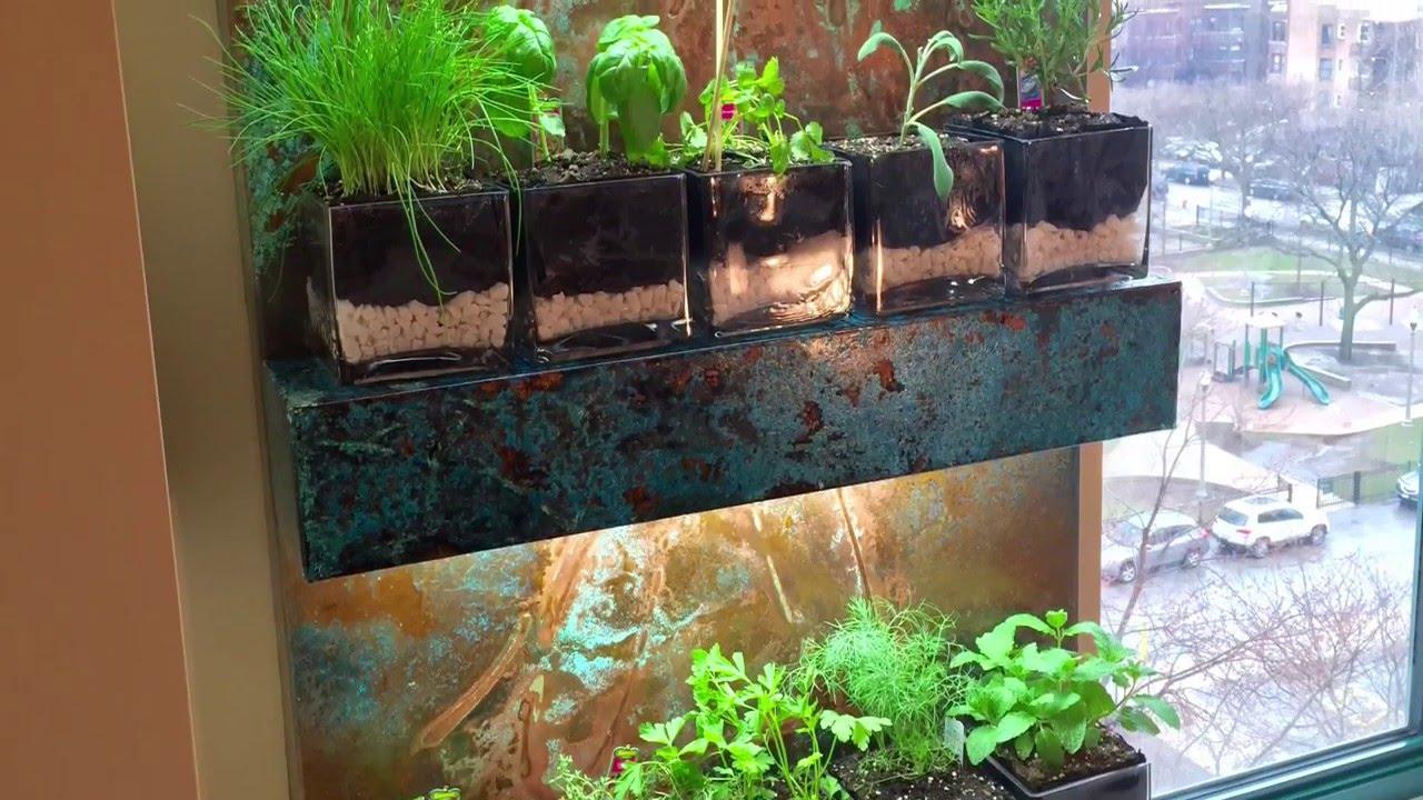 Hanging Herb Garden In Copper