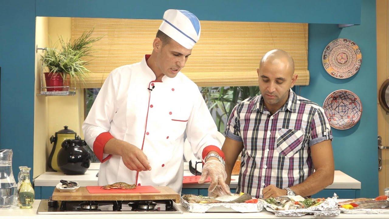 اصطباحة - الحلقة السادسه عشر- تقطيع وعمل انواع مختلفه من المأكولات البحرية - ج2