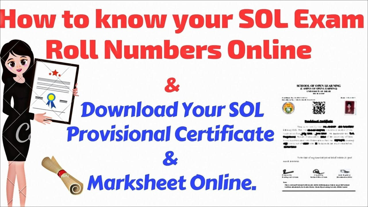 828c1be57fa10 SOL DU Exam Roll Number   Provisional Certificate   Marksheet - YouTube